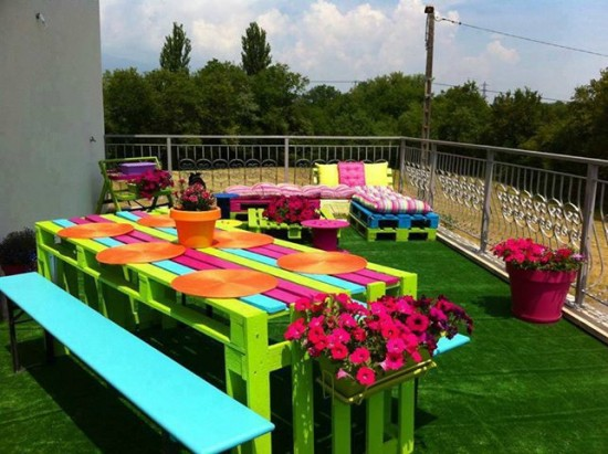 Tendance Jardin - Des palettes recyclées en mobilier de jardin ! - Les doigts Fleuris