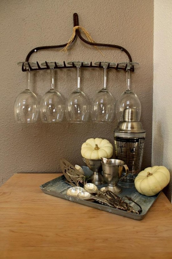Recyclage des vieux objets - râteau - blog jardin